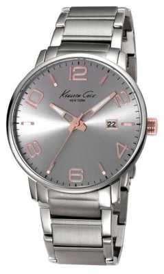 Kenneth Cole Mens Stainless Steel Siver Dial KC9393