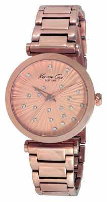 Kenneth Cole Womens Rose Gold PVD Plated Rose Dial KC0019