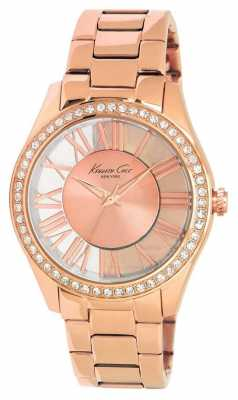 Kenneth Cole Womens Rose Gold PVD Plated Rose Dial KC4852