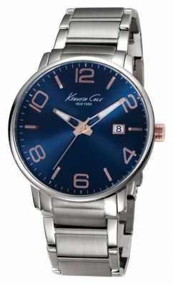 Kenneth Cole Mens Stainless Steel Blue Dial KC9392