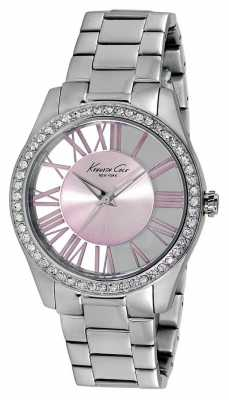 Kenneth Cole Womens Stainless Steel Pink Dial KC4982