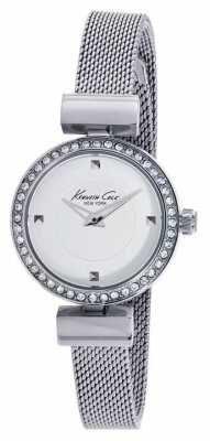 Kenneth Cole Womens Stainless Steel White Dial KC10022303