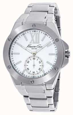 Kenneth Cole Womens Stainless Steel White Dial KC10020844