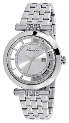Kenneth Cole Womens Stainless Steel Silver Dial KC10021103
