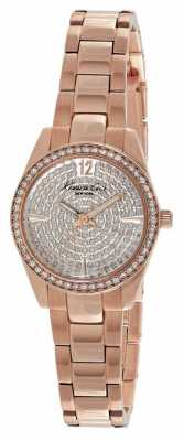 Kenneth Cole Womens Rose Gold PVD Plated Stone Set Dial KC0005