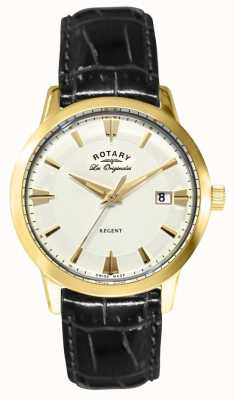 Rotary Mens Regent Black Leather Strap GS90115/01