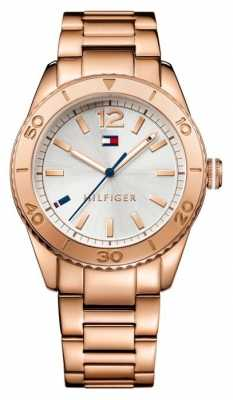 Tommy Hilfiger Womens PVD Rose Plated Ritz Watch 1781567