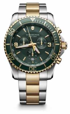 Victorinox Swiss Army Mens Maverick Chronograph Two Tone 241693