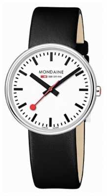 Mondaine Unisex Mini Giant Black Leather Strap A763.30362.11SBB