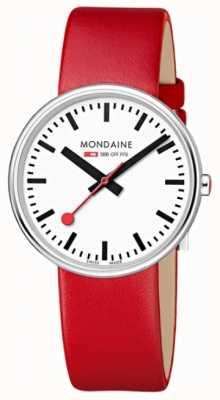 Mondaine Womens Mini Giant Red Leather Strap A763.30362.11SBC