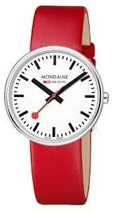 Mondaine Womens Mini Giant Red Leather Strap A763.30362.11SBC