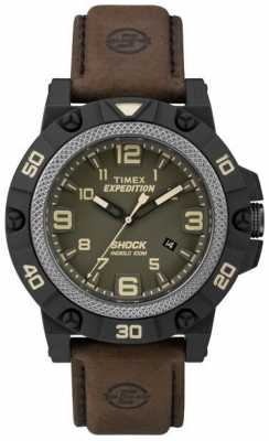 Timex Mens Expedition Field Shock Brown Strap TW4B01200