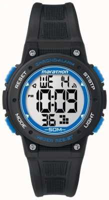 Timex Marathon Digital Black Rubber Strap Blue TW5K84800