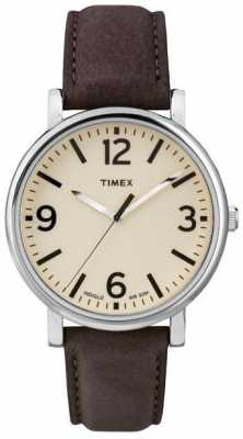 Timex Originals Brown Leather Strap Watch T2P526
