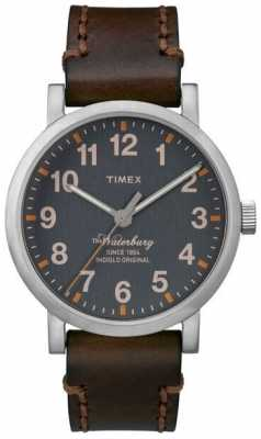 Timex Mens The Waterbury Dark Brown Leather TW2P58700