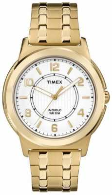 Timex Mens Bank Street PVD Plated White Dial TW2P62000