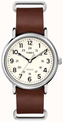 Timex Originals Weekender Brown Leather Strap T2P495