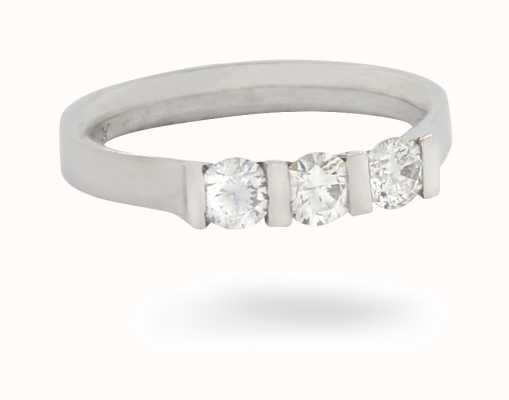 Platinum 3 Stone Diamond Ring JM1401