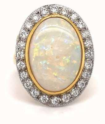 18k Yellow Gold Opal Diamond 0.80ct Ring JM8527
