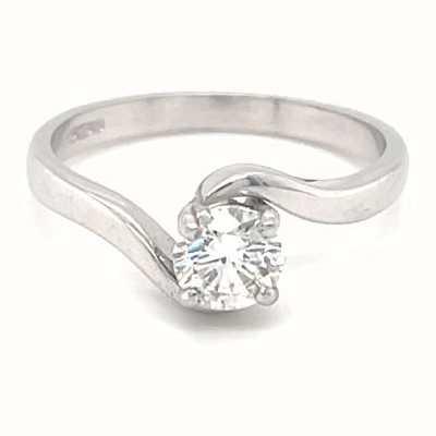 18k White Gold 0.50ct Diamond Solitaire Ring JM1695