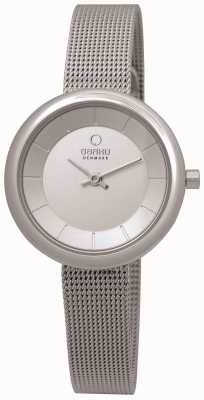 Obaku Womens Stainless Steel Mesh Bracelet V146LXCIMC