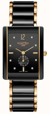 Roamer Womens Ceraline Saphira Black Ceramic Gold 690855485960
