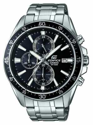Casio Edifice Stainless Steel Black Chronograph EFR-546D-1AVUEF