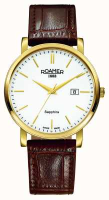 Roamer Classic Line | Brown Leather Strap | White Dial 709856-48-25-07