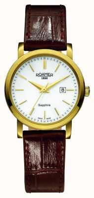 Roamer Classic Line | Brown Leather Strap | White Dial 709844 48 25 07