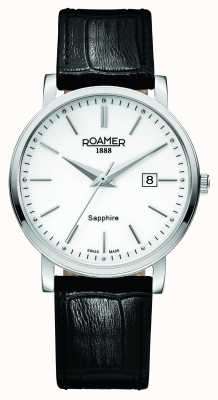 Roamer Classic Line | Black Leather Strap | White Dial 709856-41-25-07