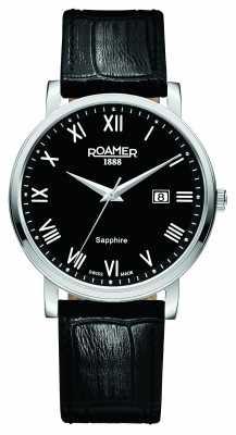 Roamer Mens Classic Line Black Leather Strap 709856415207