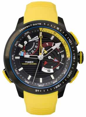 Timex Mens Intelligent Quartz Yacht Yellow Rubber TW2P44500