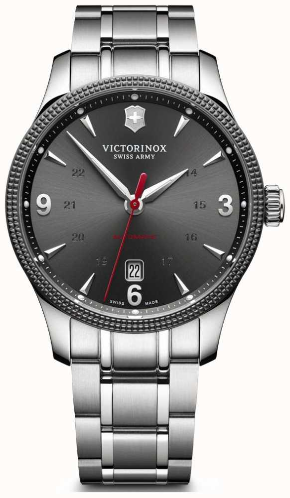 Victorinox Swiss Army Mens Alliance Automatic Grey Dial