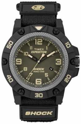 Timex Mens Expedition Field Shock Green Dial TW4B00900