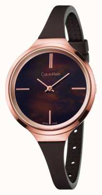 Calvin Klein Womens Lively Brown Rubber Strap K4U236FK