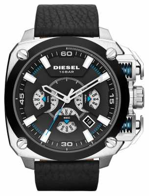 Diesel Mens BAMF Black Leather Strap DZ7345