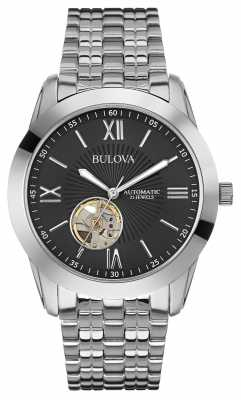 Bulova Mens Automatic Stainless Steel Bracelet 96A158