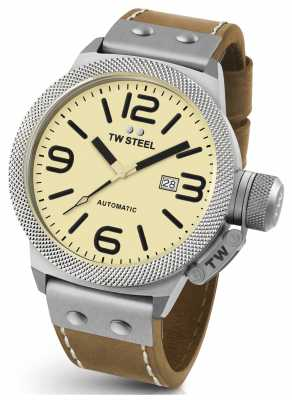 TW Steel Mens Canteen 45mm Automatic Leather Strap CS15