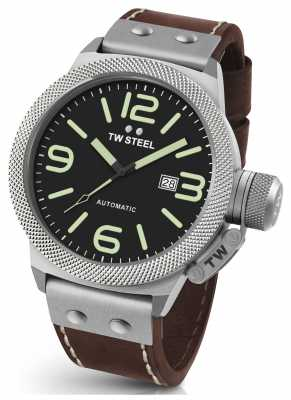 TW Steel Mens Canteen 45mm Automatic Leather Strap CS25