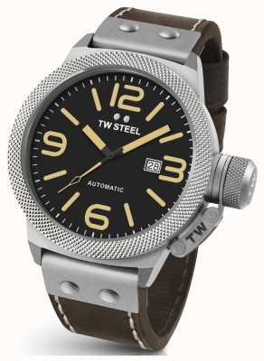 TW Steel Mens Canteen 50mm Automatic Leather Strap CS36