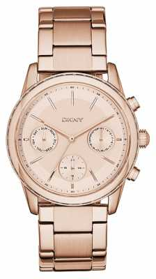DKNY Womens Rockaway PVD Rose Gold Plated NY2331