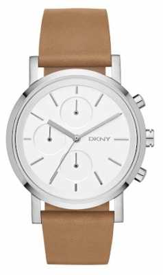 DKNY Womens Soho Chronograph Brown Leather Strap NY2336