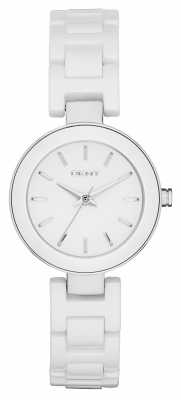 DKNY Womens Stanhope White Ceramic NY2354