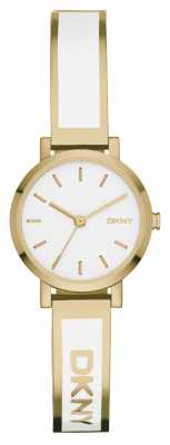 DKNY Womens Soho White And PVD Gold Plated NY2358