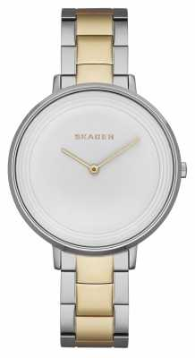 Skagen Womens Ditte Two Tone White Dial SKW2339