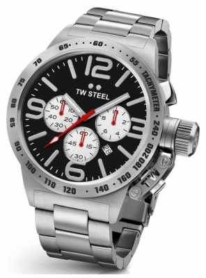 TW Steel Mens Canteen 45mm Chrono Stainless Steel CB3