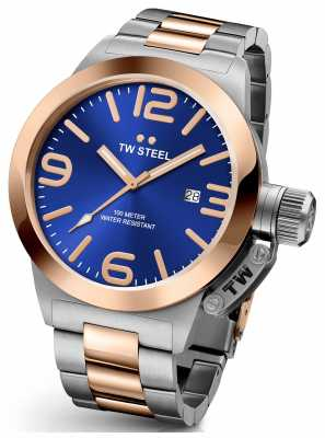 TW Steel Mens Canteen 45mm Two Tone Blue Dial CB141