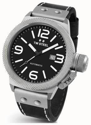 TW Steel Mens Canteen 50mm Automatic Black Leather CS6