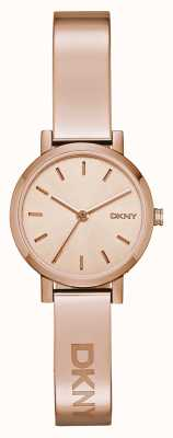 DKNY Womens SoHo Rose Gold Bangle NY2308