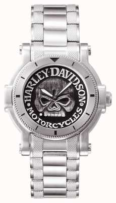 Harley Davidson Mens Willie G Skull Wrist Watch 76A11